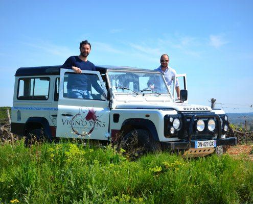 L'équipe Vign'O vins - Balades vigneronnes en 4x4